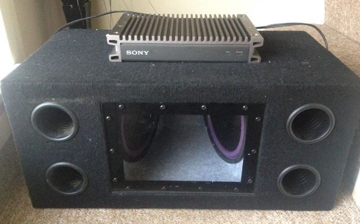 """Car 10"""" Double Sub With Sony Ampin Irvine, North AyrshireGumtree - Car. Double 10"""" sub with Sony amplifier for sale. Good working order. I got a smaller car so its to big for my boot hence sale"""