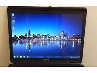 """Cheap Toshiba Dual Core Laptop - 15.4"""" Display - DVD-RW - WiFi - Windows 7"""