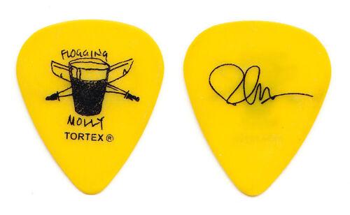 Flogging Molly Bob Schmidt Signature Yellow Guitar Pick - 2011 Tour