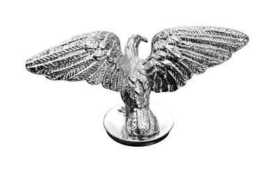 Zierfigur Adler schwingend chrom Kühlerfigur Ornament Trike Motorrad Kotflügel
