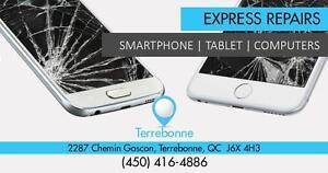 Terrebonne: 2287 Chemin Gascon  :  Réparation -Repair  Samsung Galaxy S4 / S5 / S6/  S7 S7 EDGE  - Note 3/ 4 /  5/  7 -
