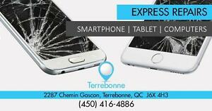 Terrebonne Store  : 2287 Chemin Gascon :  Reparation iPhone, Samsung, Sony, BlackBerry, Nokia, Sony - iPad Sur Place