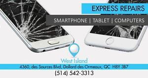West Island Store: 4360 Boul Des Sources  : Réparation de vitre - iPad 2 / 3 / 4 / - iPad Mini 1 2 3 et  iPad Air 1/2