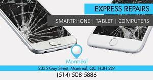 Reparation écran Samsung iPhone LG Alcatel motorola