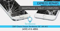 Terrebonne Store  : 2287 Chemin Gascon :  Reparation iPhone, Samsung, Sony, BlackBerry, Nokia, Sony - iPad Sur Place
