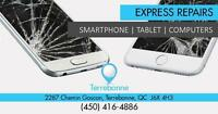 Terrebonne Store : 2287 Chemin Gascon: Reparation /  Repair  LCD iPhone 7 / 6S 6/6+. iPhone  5/5S/5C   iPhone 4S/4