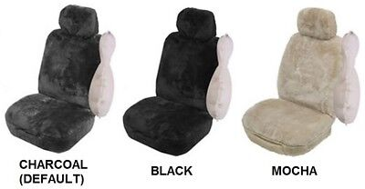 SINGLE 27mm SHEEPSKIN ALL OVER CAR SEAT COVER FOR GMC SIERRA 2500 AWD CAB CHAS