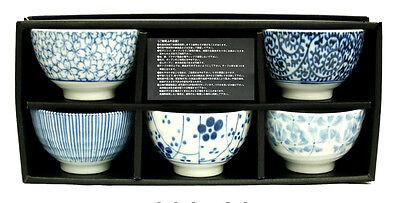 Japanisches Teeschalen Set SOMETSUKE hergestellt in Japan Geschenkbox Ø 9, H 5,8