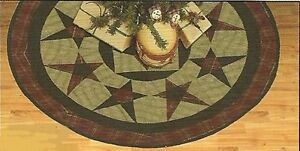 PRIMITIVE-COUNTRY-STAR-TEA-DYED-QUILTED-CHRISTMAS-TREE-SKIRT-48