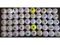 50 Logo Golf Balls From UK Courses