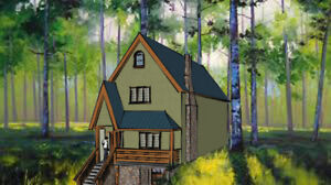 Trade stay at cottage for architectural services