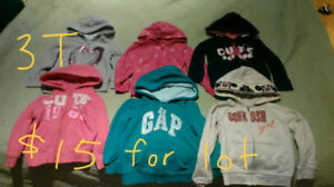 EUC girls 3T hoodies