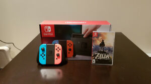 Console nintendo switch avec jeux zelda breath of the wild