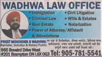 Real Estate & Immigration Lawyer. Ph: 905-781-5541