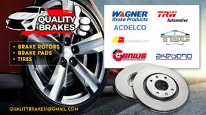 2010 Honda Fit front brake rotor with ceramic brake pads