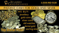 TOP $$$ PAID FOR GOLD SILVER AND WATCHES TECUMSEH GOLD EXCHANGE