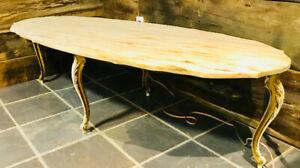 Table de salon antique en marbre