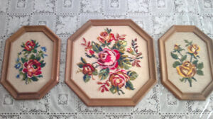 hand embroidered wall frames