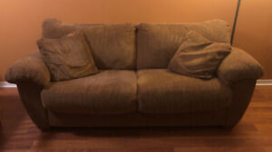 Brown-tone Couch and Chair - Good Condition