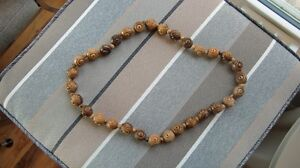 Large Wooden Beaded Necklace or prayer beads