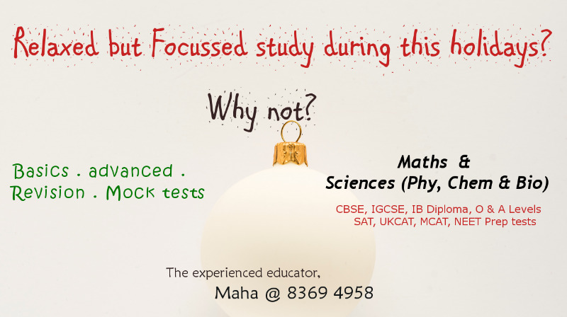 Easy Maths & Sciences IB CBSE Secondary Special Tuition Classes