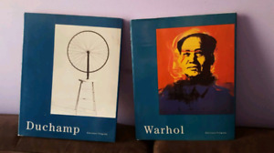 Duchamp and Andy Warhol pop surreal art books $5 each