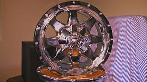 """18"""" Chrome Mayhem Tank Wheels"""