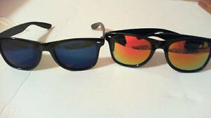 Men Sunglasse 2 PCs mirror Wayfarer design NEW 100%