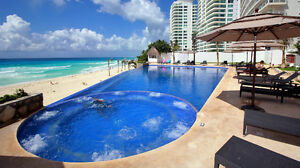 CANCUN CLUB ZONE BEACHFRONT 1 BEDROOM CONDO RENTAL