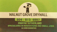 WALNUT GROVE DRYWALL