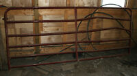 Metal Tube Gate - 10' Long - Has Bent Rails on 1 Section
