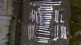 Box of various hand tools