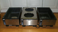 Set of 3 Vollrath Counter Top Food Warmers Steam Table