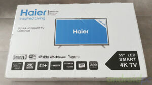 smart tv HAIER(SAMSUNG) 55p 4K,youtube,ultraHDR,chromecast,boite