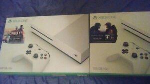 XBOX ONE S 500GB ~ BRAND NEW HALO 5 AND BATTLEFIELD 1