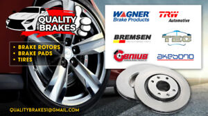 2011 LINCOLN MKS BRAKES FRONT ROTORS AND PADS