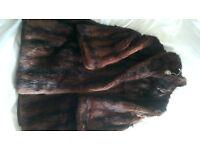 Genuinie Vintage Ranch Musquash Fur Coat London Maker 1970's
