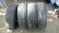 "4 Bridgestone winter tires on rims 14""/70/195"