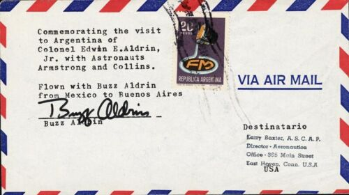 Buzz Aldrin Signed Commemorative Cover - From Apollo 11 1969 World Tour - NASA