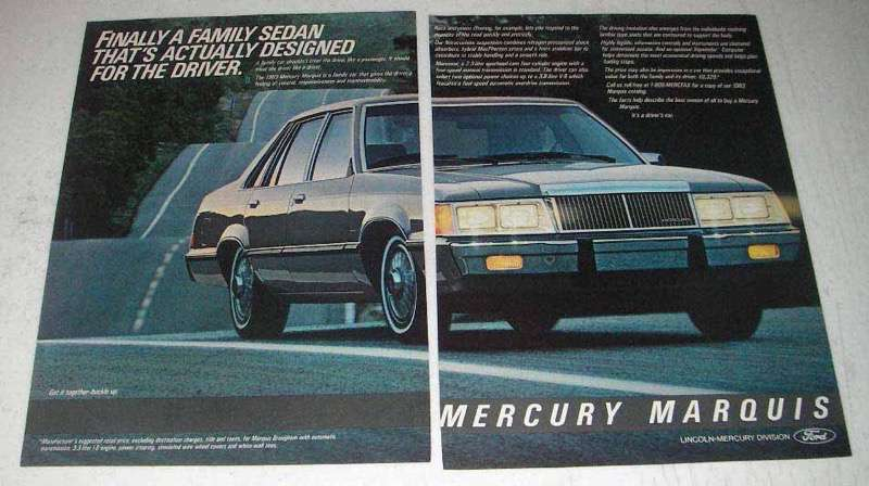 1983 Mercury Marquis Car Ad - Designed for the Driver