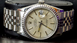 Rolex DateJust 16030 with Quick set & Tapestry dial men's watch