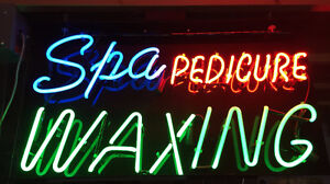 Neon Signs: Spa, Pedicure, Waxing