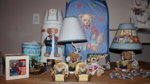 HUGE lot of Blue Jean Teddy room decor items for sale