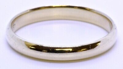 ArtCarved 14K Solid Yellow Gold Polished Comfort Fit 3mm Wedding Band Ring sz 9