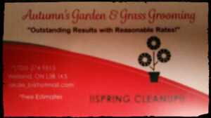 Gardening and Spring Clean up