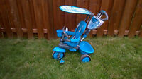 3 in 1 SmartTrike kids tricycle with canopy.