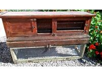Wooden Hutch and Run - Rabbit, Guinea Pig, Ferret