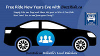 Free Ride New Years Eve to and from your Party! www.buzzride.ca