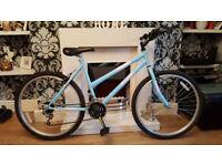 ladies light blue universal mountain bike