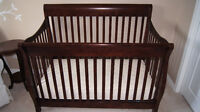 Matching Dresser, Bookcase and Convertible Crib (incl conv kit)